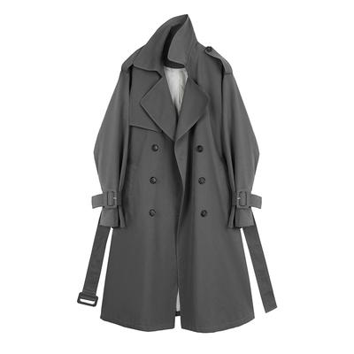 【现货】MSHI CLUB风衣女中长款双排扣宽松垂感休闲外套气质大衣